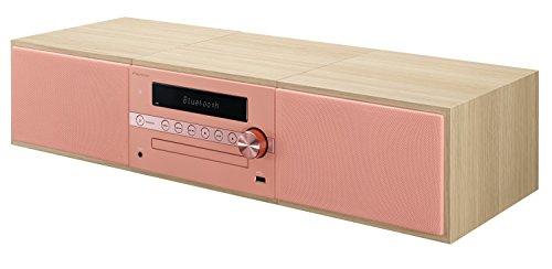 Pioneer X-CM56-R - Microcadena Hi-fi con Bluetooth , Color Salmón