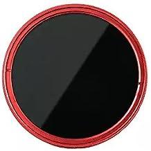 Fotga 62mm Ultra Slim Fader ND-Objektiv-Filter Einstellbare Neutraldichtefilter Variable ND2 zu ND400 Neutral Density Filter Graufilter - Rot
