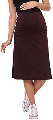 Zeta Ville - Premama falda la rodilla banda barriga elástica - para mujer - 983c