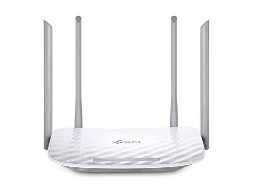 TP-Link Archer C50 Routeur WiFi AC 1200Mbps, WiFi Bi-bande 300 Mbps en 2.4 GHz et 867 Mbps en 5 GHz, Routeur Ethernet 5 ports, 4 antennes externes, Support contrôle parental