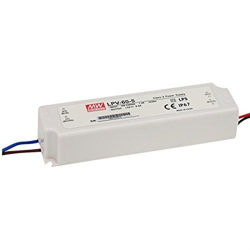 LED Netzteil 60W 12V 5A ; MeanWell, LPV-60-12 ; Schaltnetzteil