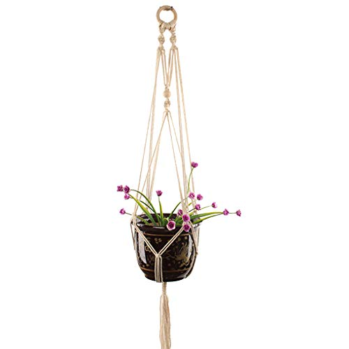 fish Handmade Bohemian Braided White Macrame Plant Hanger Pot Holders Hanging Basket Garden Home Decoration - Makramee-pot-kleiderbügel