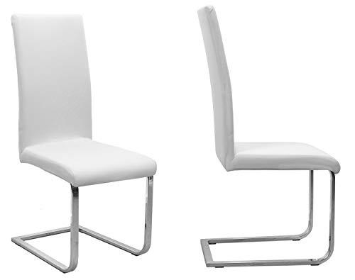 BEAUTEX 2er Set Jersey Stuhlhusse (Farbe wählbar), elastische Uni Stretch-Husse aus Baumwolle Bi-Elastisch (Weiß)