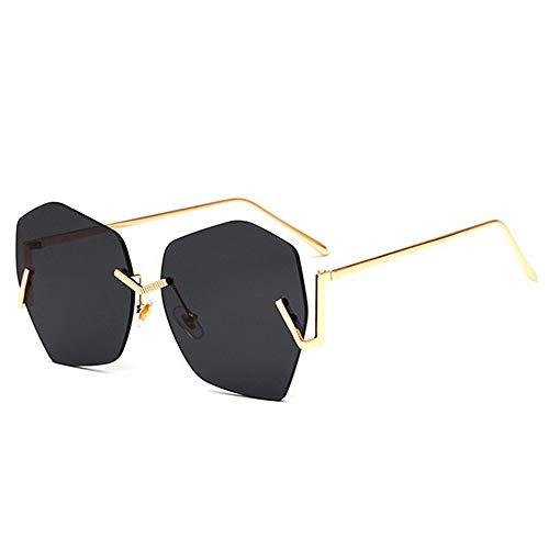 Yiph-Sunglass Sonnenbrillen Mode Unregelmäßige rahmenlose Stil Frauen Sonnenbrillen farbige linse uv400 Schutz Fahren Radfahren Laufen Golf (Farbe : C2)