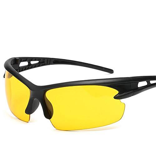 Outdoor Sports Sonnenbrillen Polarized Sports Herren Sonnenbrillen Skifahren Golf Laufen Reiten Tr90 Ultra Light Frame@Gelber Film
