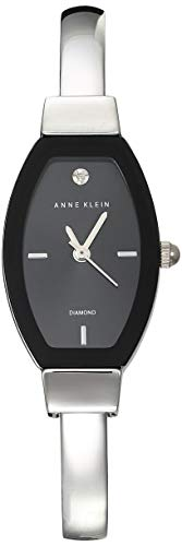 Anne Klein Classic Reloj de Mujer Cuarzo Correa y Caja de Acero AK/2553BKSV