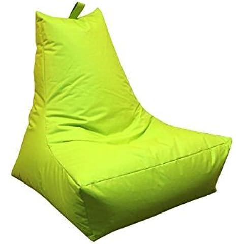 Outdoor rfähige Pouf–verde/verde mela–Sedile–Lounge–poltrona–cuscino per sedia–XXL–Lounge Chair–Poltrona lounge, 100x 90x 80cm, outdoorgeeignet