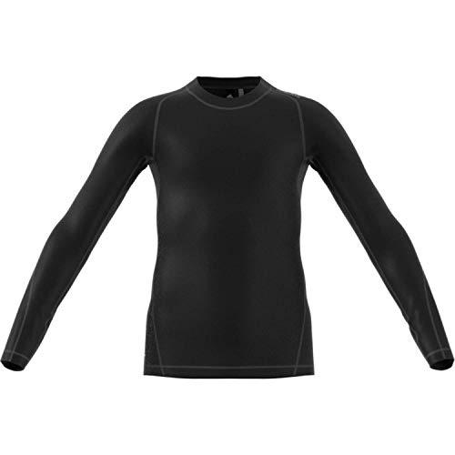 adidas Jungen Alphaskin Sport Langarm T-Shirt, Black, 164