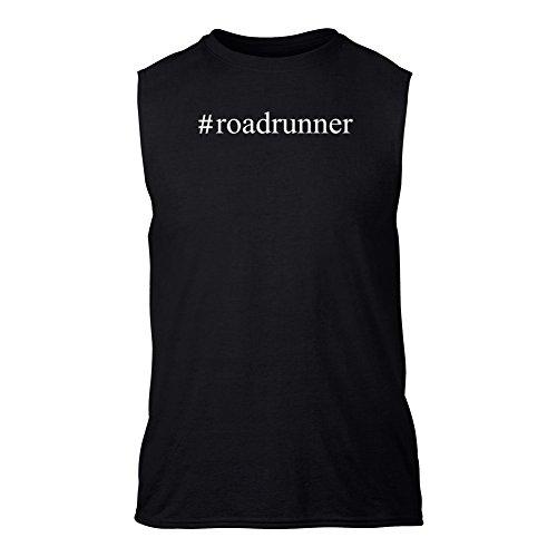-road-runner-hashtag-senza-maniche-t-shirt-nero-l