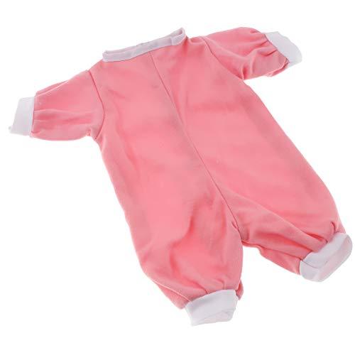CUTICATE Niedliche Rosa Gestreifte Siamesed Kleidung Gepasst Für Salon Puppe 16inch Kleiden Oben Geschenke An (16 In Puppe Kleidung)