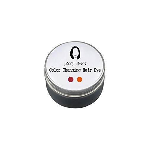 Serria® 100g temperatur veränderndes Farbwechsel Haarfärbemittel temporäre Farbstoff ändert Haar Farbe 18 ° C sofort ändert p-Phenylendiamin Wasserstoffperoxid Haarfärbecreme (C-Kastanienbraun-Rosa)
