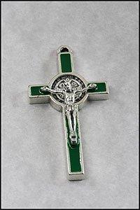 San Benedetto Crocifisso Verde. San Benedetto Croce 3,5cm. Croce Di San Benedetto