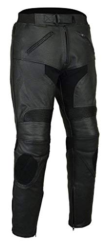 Australian Bikers Gear–CE blindado Piel Moto Jeans con Deslizadores Cintura UK 44
