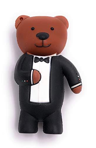Onlineworld2013 Teddy mit Anzug Bär Funny USB Stick 32 GB USB ()