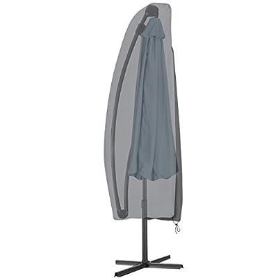KROLLMANN Schutzhülle in Grau für Sonnenschirm aus Polyester, Abdeckung für Gartenmöbel, Schirmhülle Markt Schirm und Ampelschirm von KROLLMANN bei Gartenmöbel von Du und Dein Garten