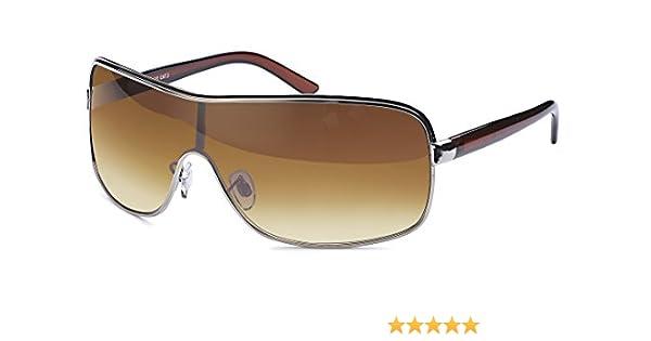 Designer Sonnenbrille mit Monoscheibe und Verlaufsglas braun JxmVFT43