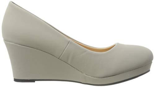 Elara Damen Pumps Keilabsatz Wedges Schuhe mit Plateau |Chunkyrayan - 6
