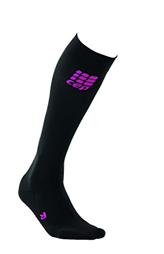 CEP Damen Strumpf Pro Plus Riding Socks Women Black/Pink, III