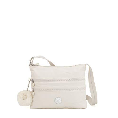 Kipling Damen ALVAR Umhängetasche, Weiß (Dazz White) 33x26x4.5 cm