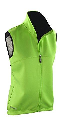 SPIRO Ladies Airflow Gilet Neon Green, Größe:XL (42)