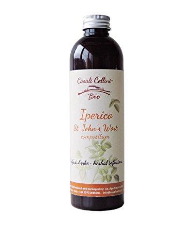 Bio Kräuterdrink Johanniskraut von Casali Cellini aus der Toskana - die leckere Alternative zu Johanniskraut-Tee oder Johanniskraut-Saft - 250 ml