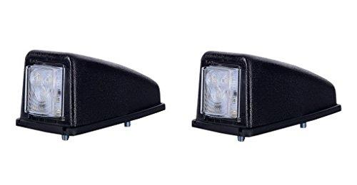 2 x 3 SMD LED Weiß Dachleuchte Begrenzungsleuchte Seitenleuchte 12V 24V mit E-Prüfzeichen Positionsleuchte Auto LKW PKW KFZ Lampe Leuchte Licht Front