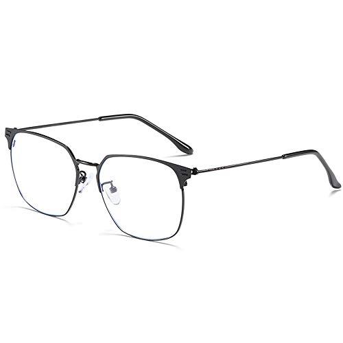 LEIAZ Anti-Blaue Brille Retro Flacher Spiegel Business-Brille Modische Atmosphäre Trend Fan Müdigkeit Lindern Augen Schützen
