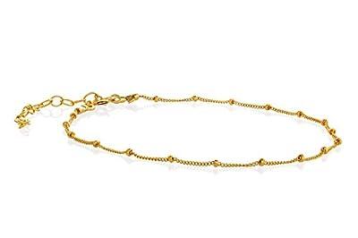 Bracelet chaine satellite rempli d'or finement superposé Longueur de 15 cm + extension