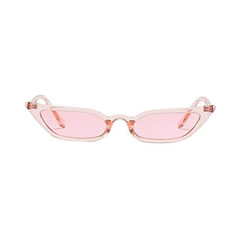 Makefortune Frauen Sonnenbrillen, Frauen-Weinlese-Katzenaugen-Sonnenbrille-Retro- kleiner Rahmen UV400 Eyewear arbeiten Damen-Gläser um (Rosa)