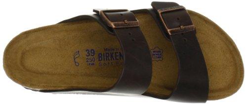 Birkenstock Unisex Arizona 2-Strap Plantare Sughero Sandali Brown Amalfi Leather