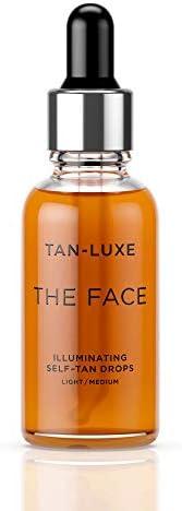TAN-LUXE Ansiktet lyser själv-solbränna droppar ljus/medium 30 ml