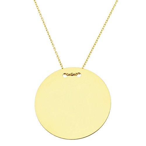 Collier avec un rond en or