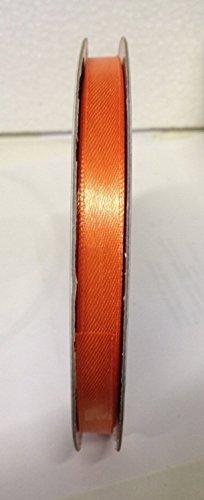 Bobine de 6 mm x 50 mètres, orange, satin double face, x, porte-nom, Bonbonnière, herbes, Confetti (ckr6)