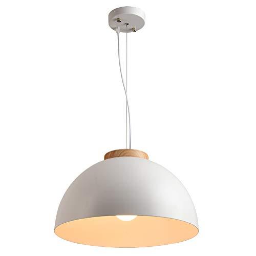 LED Pendelleuchte Esstisch Hängeleuchte Modern Landhaus Stil Holz Kronleuchter Kreative Rund Metall Lampenschirm Pendellampe E27 Glühbirne für Innen Wohnzimmer Schlafzimmer Esszimmer Küche Decke Lampe