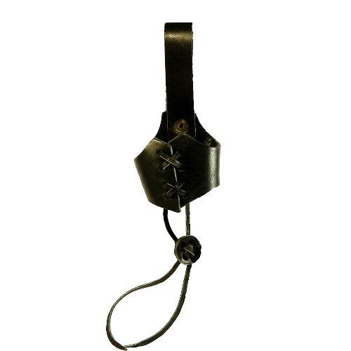 Trinkhorn Leder-Gürtelhalter (ca. 0,1l) Leder Gürtelhalter Halter -