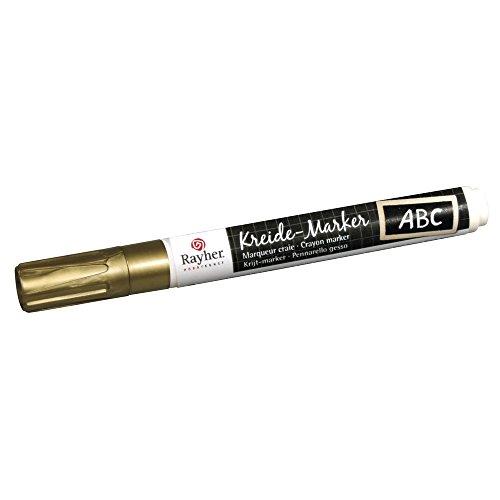 Rayher Hobby 38830620  Kreide-Marker, Keilspitze 2-6 mm, brilliantgold