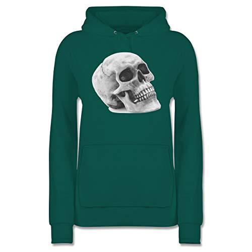 Shirtracer Piraten & Totenkopf - Totenkopf Skull - XXL - Türkis - JH001F - Damen Hoodie