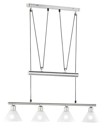 1-07 Jojo-Balkenpendel, 4xE14,max.40W, Nickel matt, Glas opal matt weiß [Energieklasse] ()