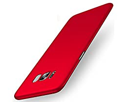 "EIISSION Samsung Galaxy S8 (5.8"") Funda,Ultra ligero Suave mate sedoso pintura PC Funda protectora de teléfono (rojo)"