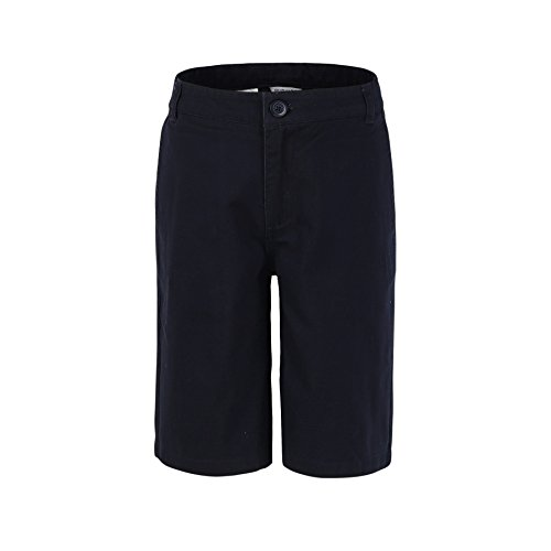 Bienzoe Jungen Baumwolle Schuluniformen Flache Front Köper Bermuda Kurze Hose Marine Größe 12