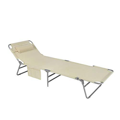 SoBuy OGS35-MI Chaise Longue Bain de soleil...
