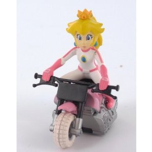 Super Mario Kart~Princess Peach Bike Figure~Pull Back..Size 5 cm tall X 4.8 cm long