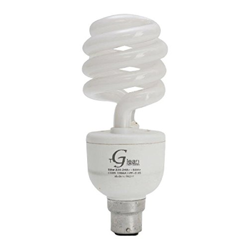Made in India - 23 Watt - CFL Spiral (Compact Fluorescent Light) - Pack of 1 Bulb - ISO 9001 2008 certified - Glean Lights  available at amazon for Rs.250