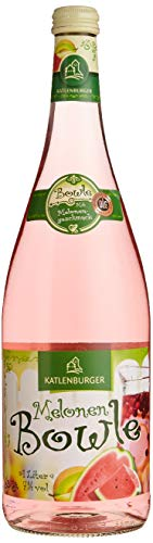 KATLENBURGER Melonenbowle 1l, Bowle aus Fruchtwein, 7{6ba5948f0973ea7b0df9ab31191352dbd0bb359f9470232b06cbcb2df97b54e6} vol., Geschmack: Wasser- und Honigmelone, trinkfertig gemischt, 6er Pack (6 x 1l)