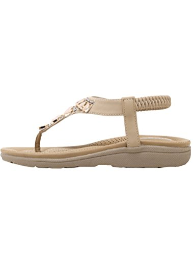 MatchLife Femmes Sandales Flip Flops Style4-Abricot