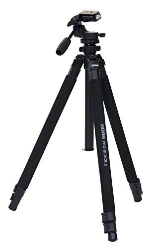 Dörr 372748 Pro Black 2 Foto/Video Stativ inkl. 3D-Neiger mit integrierter Wasserwaage/Schnellwechselplatte/Stativtasche