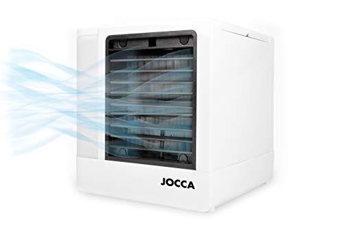 JOCCA 1228 Mini aire acondicionado portátil 3 en 1 USB, humidificador, purificador con 4 colores LED...