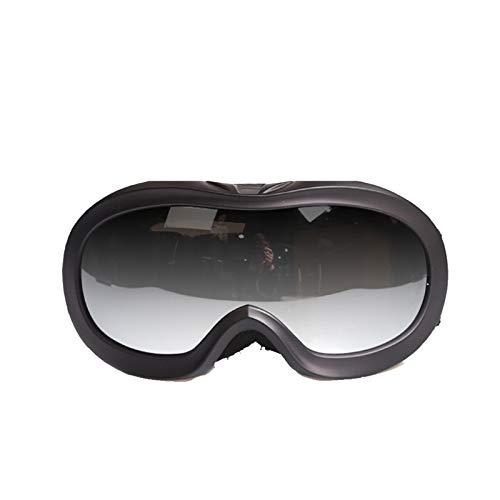 Gnzoe Kinder PC Schneebrille Schutzbrillen Anti-Beschlag Snowboardbrille (Cocker Myopie Brille) Outdoor Schutz Brille Hell Schwarz