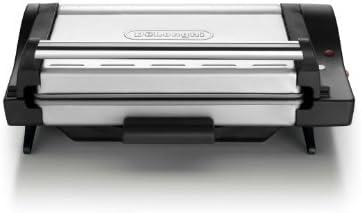 DeLonghi CG4001.BK - Grill de contacto, 1600 W, posición barbacoa, bandeja extraíble