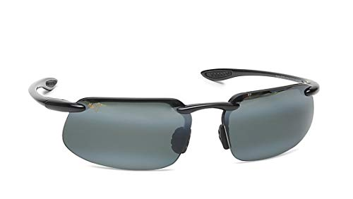 b8de108148a Maui Jim 409-02 Gloss Black Kanaha Rimless Sunglasses Polarised Golf